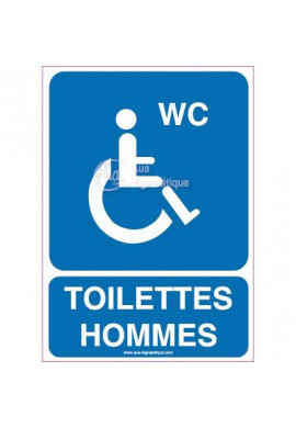 Panneau Toilettes Hommes