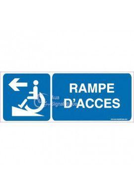 Panneau Rampe d'Accès à Gauche