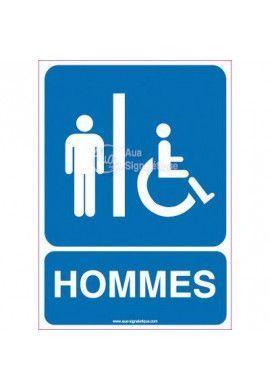 Panneau Toilettes Handicapés, Hommes