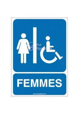 Panneau Toilettes Handicapés, Femmes