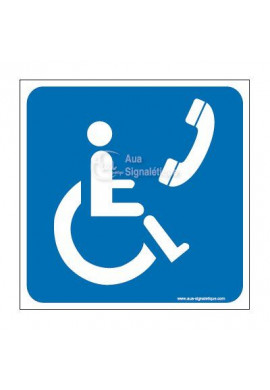 Panneau Téléphone Handicapé