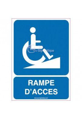 Panneau Rampe d'Accès Handicapés