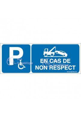 Panneau Parking Handicapés Risques de Fourrière - B