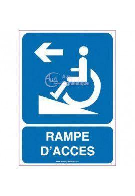 Panneau Rampe d'Accès Direction à Gauche