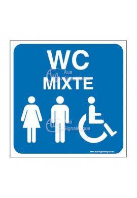 Panneau WC Mixte