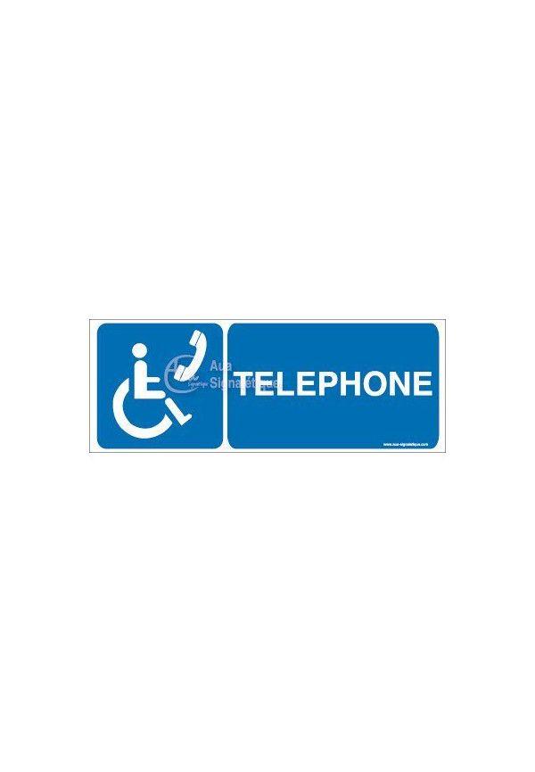 Panneau Téléphone Handicapé - B