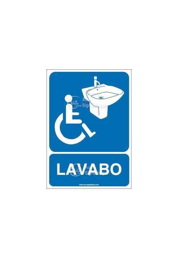 Panneau Lavabo Handicapé - AI