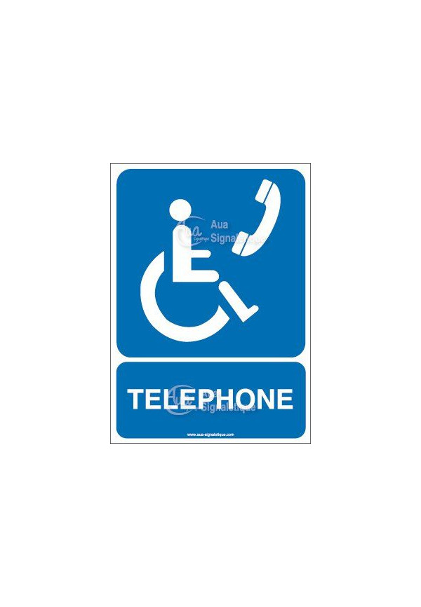 Panneau Téléphone Handicapé - AI