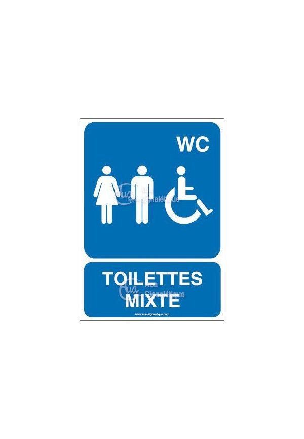 Panneau Toilettes Mixte - AI