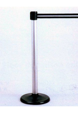 Poteau aluminium à sangle étirable sur socle portable