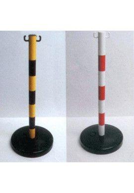 Lot de 6 Poteaux PVC sur Socle Chantier 9kg - (à lester)