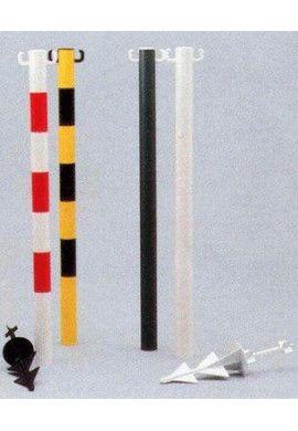 Lot de 6 Poteaux PVC sur pointe à enfoncer