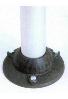 Poteau aluminium à sangle étirable sur socle fixe