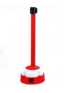 Poteau aluminium à sangle étirable sur socle balise