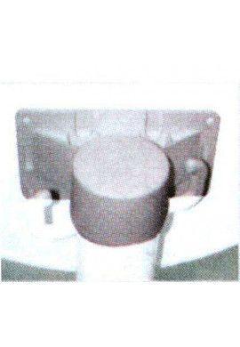 Poteau PVC équipé BS50 sur socle