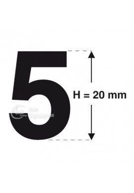 Planche 26 Chiffres prédécoupés -Hauteur 20mm