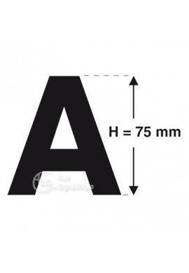 Planche 4 Lettres prédécoupés -Hauteur 75mm