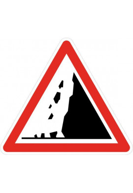 Panneau Risque de chutes de pierres - A19