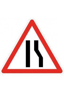 Panneau Chaussée rétrécie par la droite - A3a