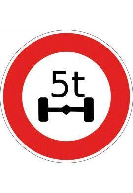 Panneau Limitation de poids à l'essieu - B13a*