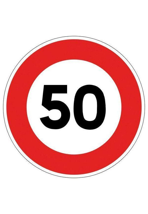 Panneau Limitation de vitesse - B14*