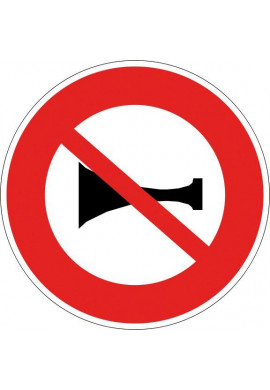 Panneau Signaux sonores interdits - B16