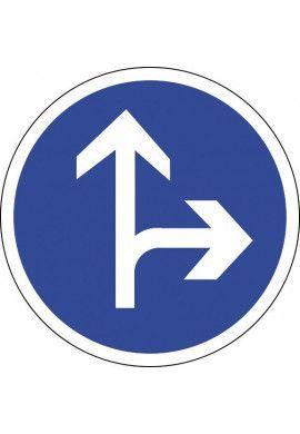 Panneau Tout droit ou à droite - B21d1