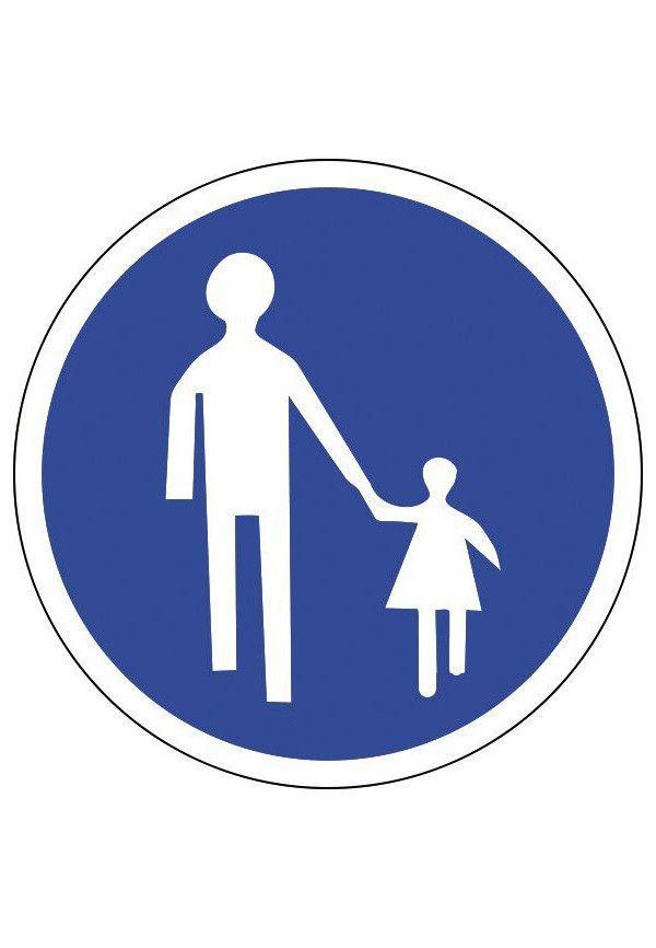 Panneau Chemin obligatoire pour piétons - B22b