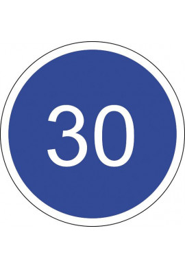 Panneau Vitesse minimale obligatoire - B25*
