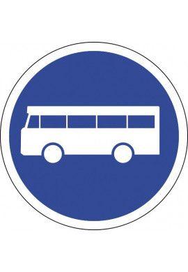 Panneau Voie réservée aux autobus - B27a