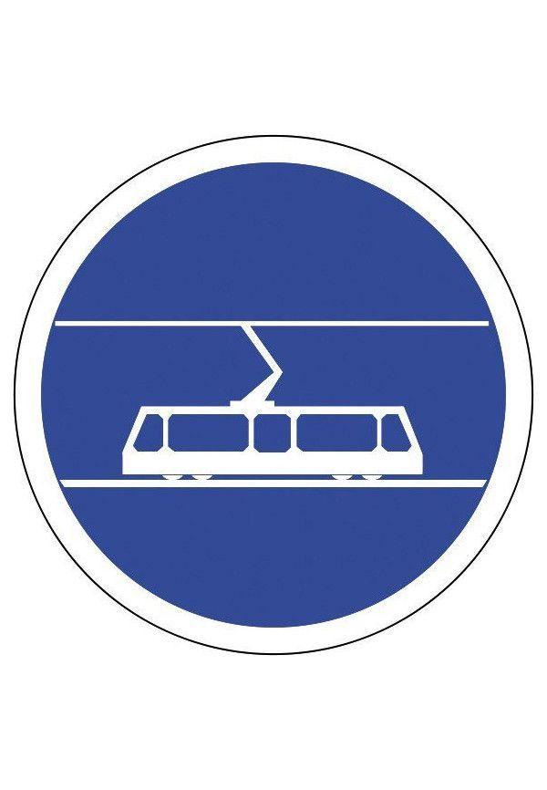 Panneau Voie réservée aux tramways - B27b