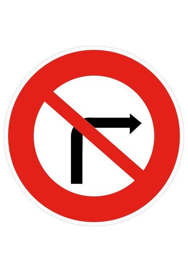 Panneau Interdiction de tourner à droite - B2b