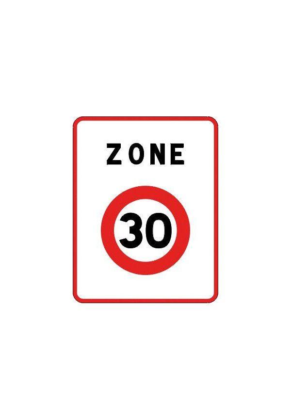 Panneau Zone 30 - B30