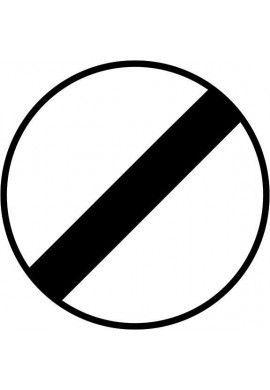 Panneau Fin d'interdiction - B31