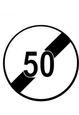 Panneau Fin de limitation de vitesse - B33*