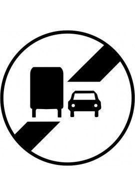 Panneau Fin d'interdiction - B34a