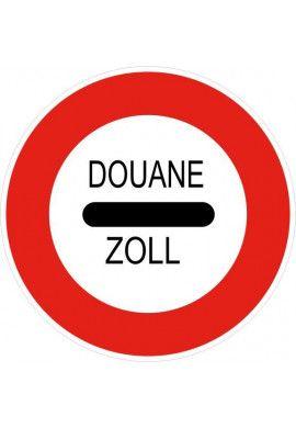 Panneau Douane : arrêt - B4