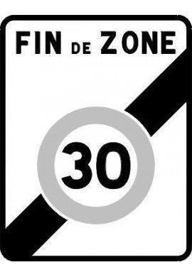 Panneau Fin zone 30 - B51