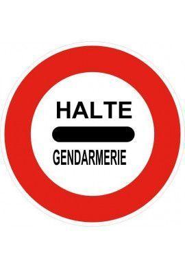 Panneau Gendarmerie : arrêt - B5a