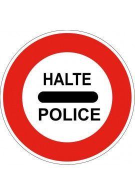 Panneau Police : arrêt - B5b