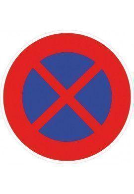 Panneau Arrêt & stationnement interdit - B6d