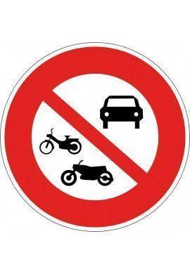 Panneau Accès interdit à tous les véhicules - B7b