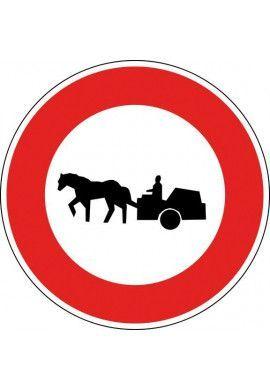 Panneau Accès interdit aux véhicules à traction - B9c