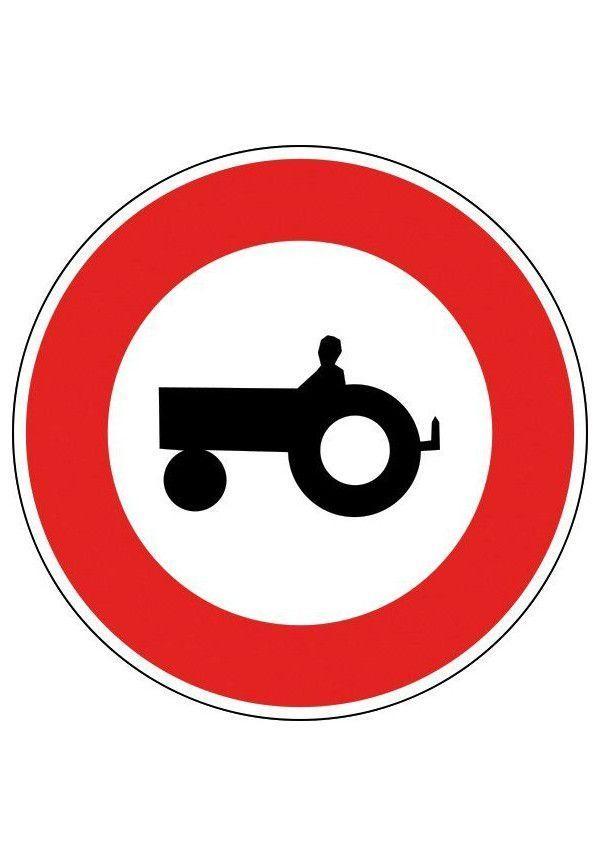 Panneau Accès interdit aux véhicules agricoles - B9d