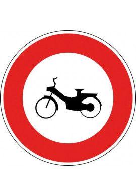 Panneau Accès interdit aux cyclomoteurs- B9g