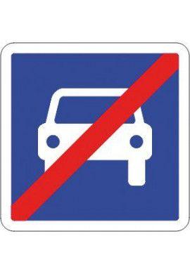 Panneau Fin de route à accès réglementé - C108