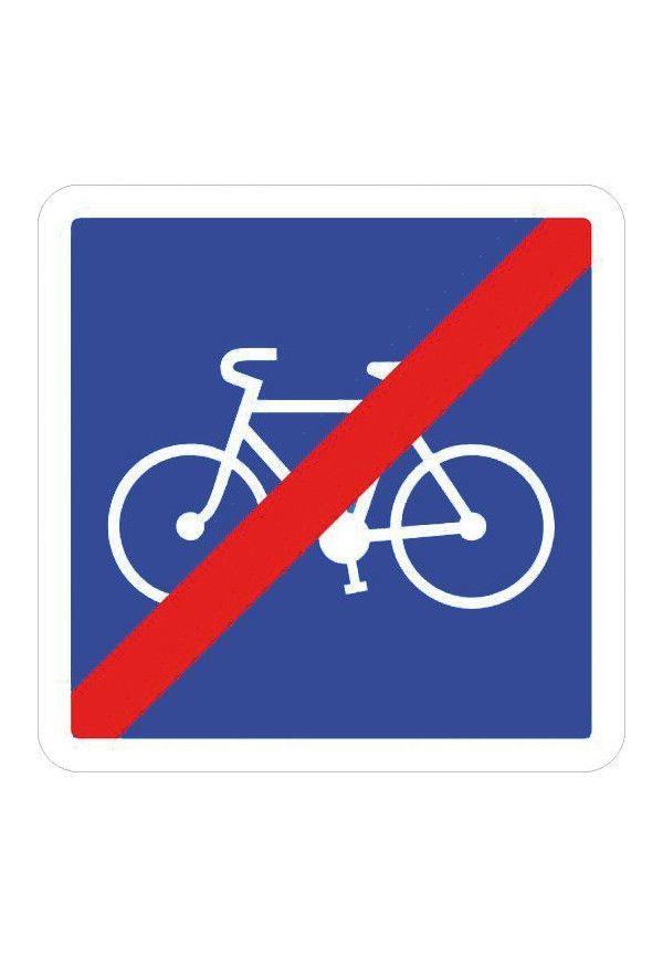 Panneau Fin d'une piste ou d'une bande cyclable... - C114
