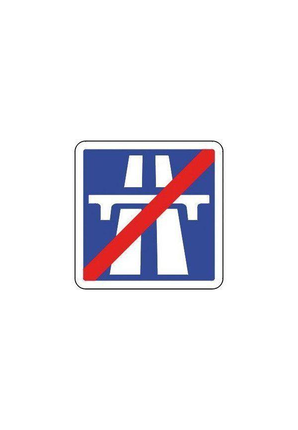 Panneau Fin d'une section d'autoroute - C208