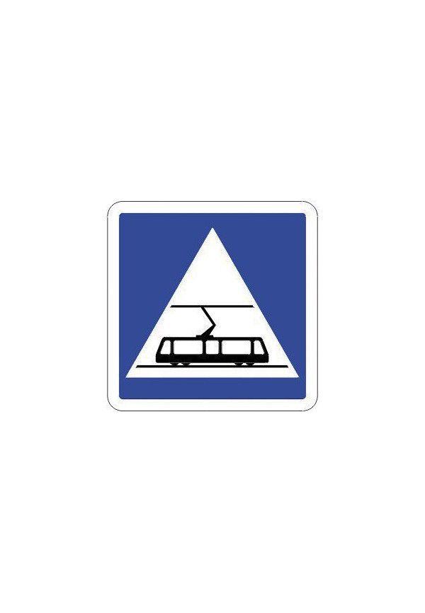 Panneau Traversée de tramways - C20c