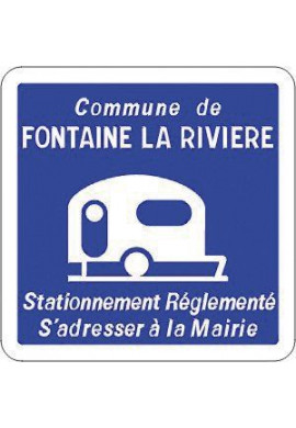 Panneau Stationnement réglementé pour les caravanes - C23